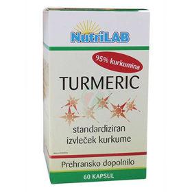 Slika Nutrilab Turmeric kapsule s kurkumo, 60 kapsul