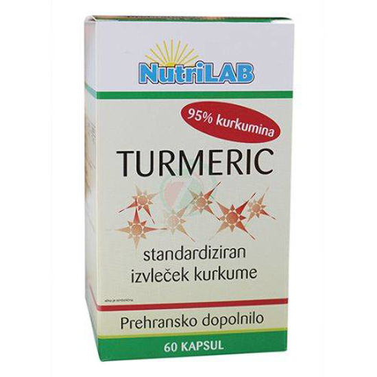 Nutrilab Turmeric kapsule s kurkumo, 60 kapsul