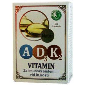 Slika Vitamin A + D3 + K2, 30 kapsul
