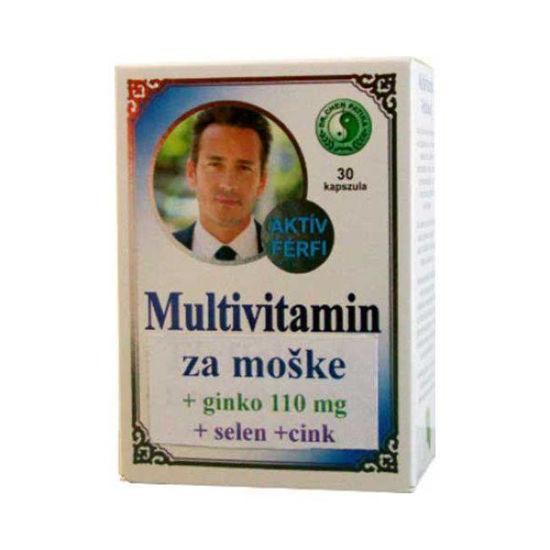 Multivitamini za moške + ginko, selen, cink, 30 kapsul