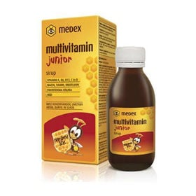 Slika Medex multivitamin junior sirup na osnovi medu, 150 mL