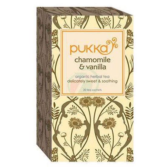Pukka chamomile & vanilla, organski čaj s kamilico, manuka medom in vanilijo, 20 vrečk
