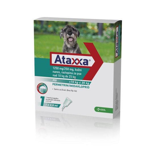 Ataxxa 1250 mg/250 mg kožni nanos raztopina za pse 10 - 25 kg, 2.5 mL