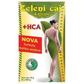 Slika Zeleni čaj + HCA, 80 kapsul