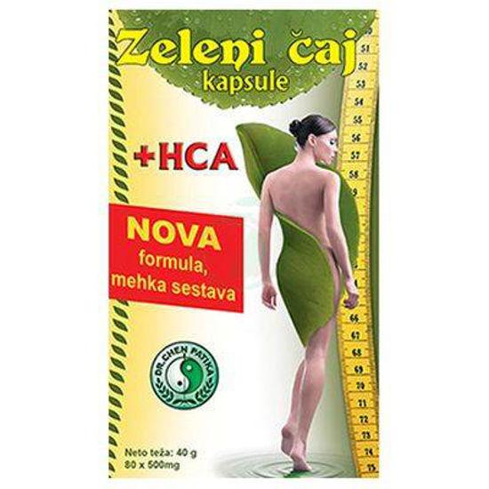 Zeleni čaj + HCA, 80 kapsul