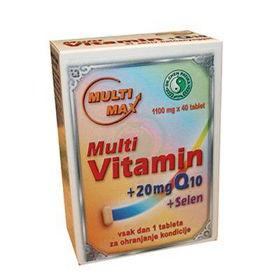 Slika Multi-Max Multivitamin + Q10 + Selen, 40 tablet