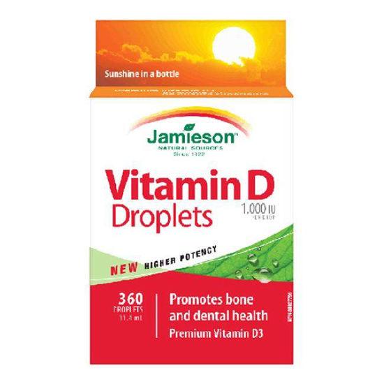Jamieson D vitamin 1.000 IE kapljice, 11.4 mL