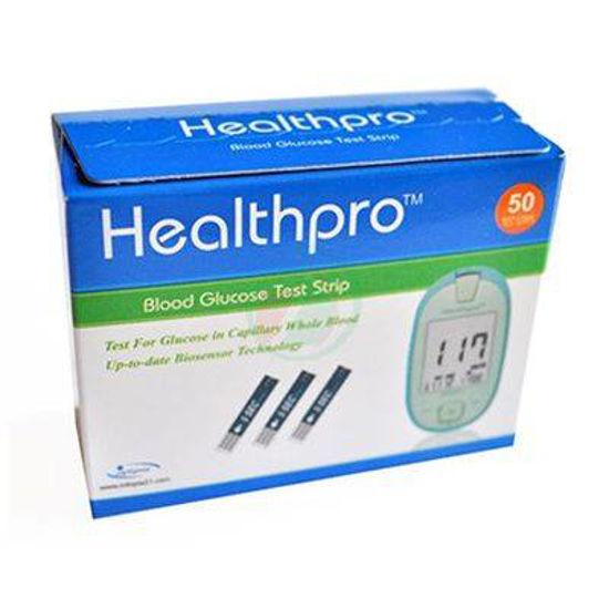 HealthPro testni lističi za določanje glukoze v krvi, 50 lističev