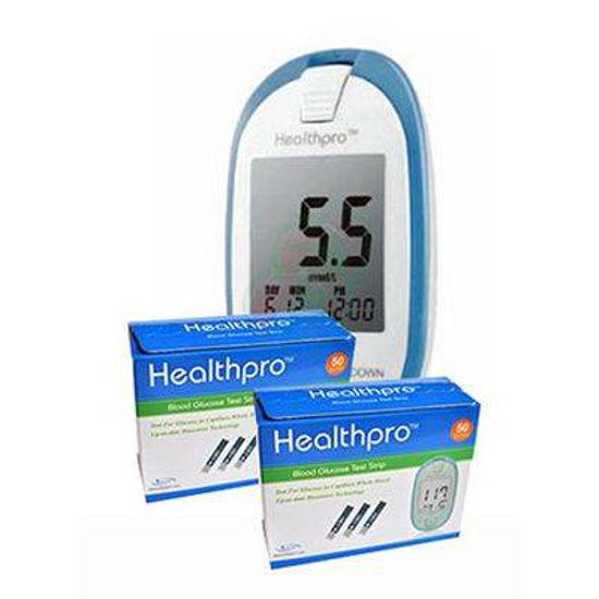 2x HealthPro testni lističi, 50 lističev + HealthPro aparat za merjenje glukoze!