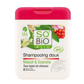 Slika So'Bio Etic šampon niauli&guarana mleko, 250 mL