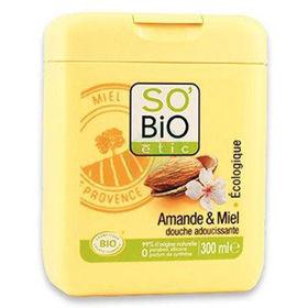 Slika So'Bio Etic tuš gel mandelj in med, 300 mL