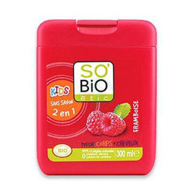 Slika So'Bio Etic otroški tuš gel malina, 300 mL
