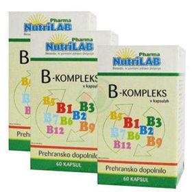 Slika Nutrilab vitamini B-kompleksa, 120 kapsul + 60 kapsul GRATIS!