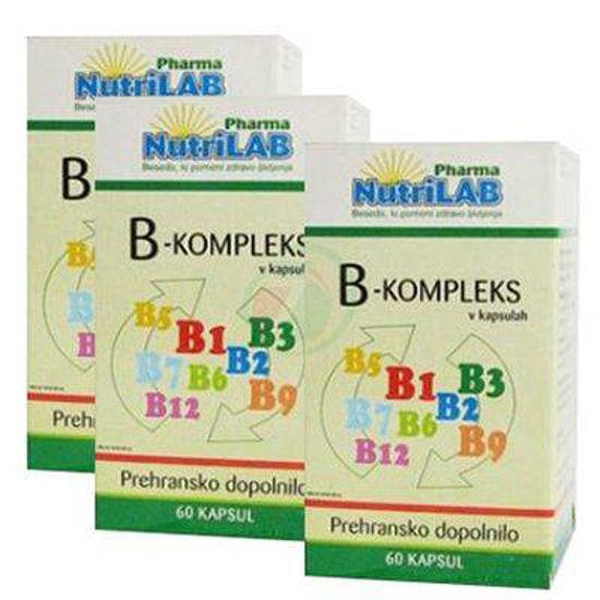 Nutrilab vitamini B-kompleksa, 120 kapsul + 60 kapsul GRATIS!