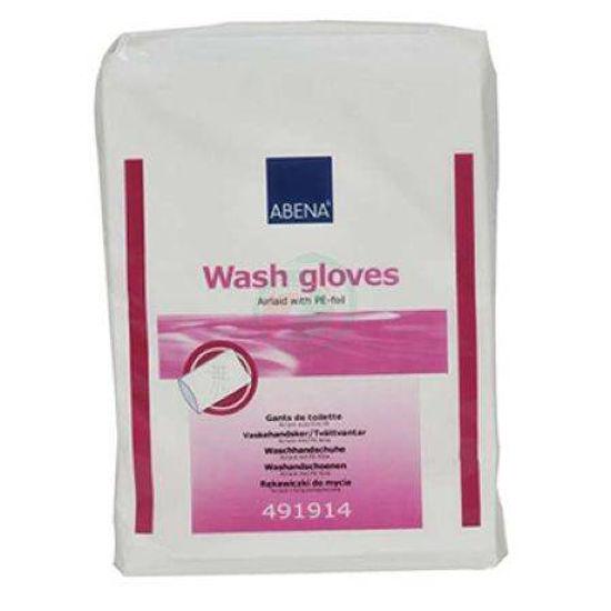 Abena Airlaid PE rokavice za umivanje, 50 vrečk