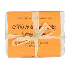 Slika Bela Milina milo iz kozjega mleka s šentjanževko, 100 g