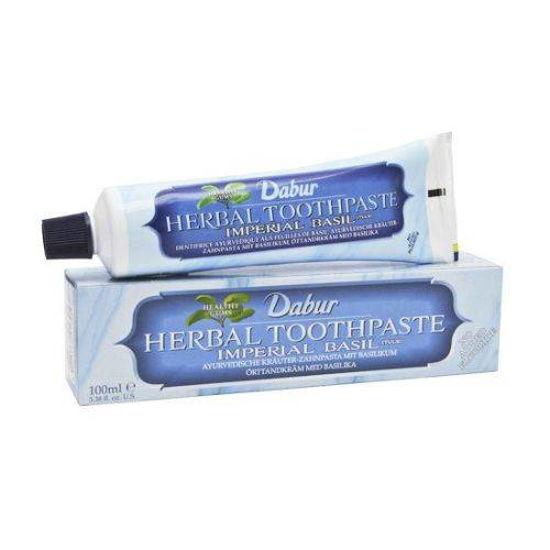 Dabur Herbal ayurvedska zobna pasta sveta bazilika, 100 mL