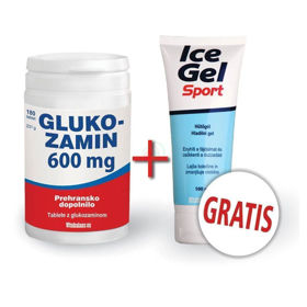 Slika Vitabalans Glukozamin 600 mg, 180 tablet + Ice gel