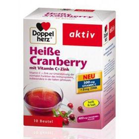 Slika Doppel Herz vroči napitek brusnica z vitaminom C in cinkom, 10 vrečk