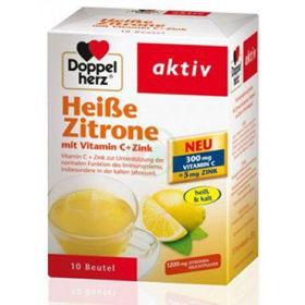 Slika Doppel Herz vroči napitek limona+vitamin C+cink, 10 vrečk