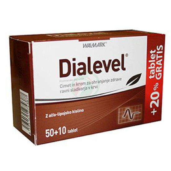 Dialevel, 50 tablet + 10 tablet GRATIS