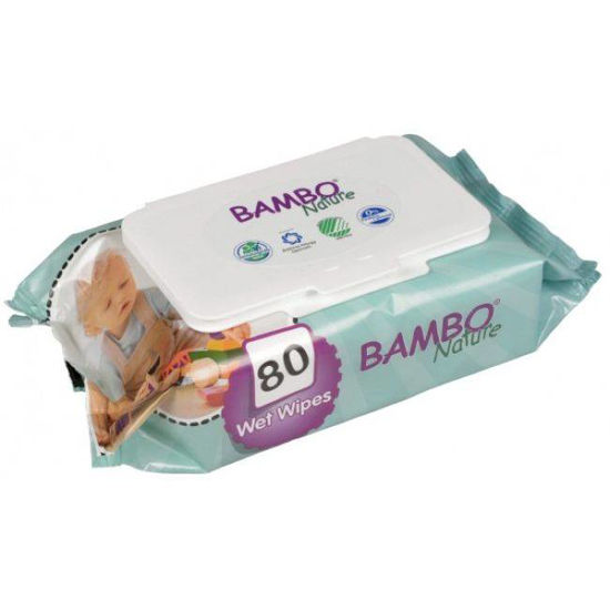 Bambo Nature otroški čistilni robčki, 80 robčkov
