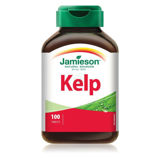 Jamieson kelp 650 µg naravni vir joda, 100 tablet