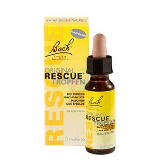 Bach Rescue kapljice brez alkohola, 10 mL