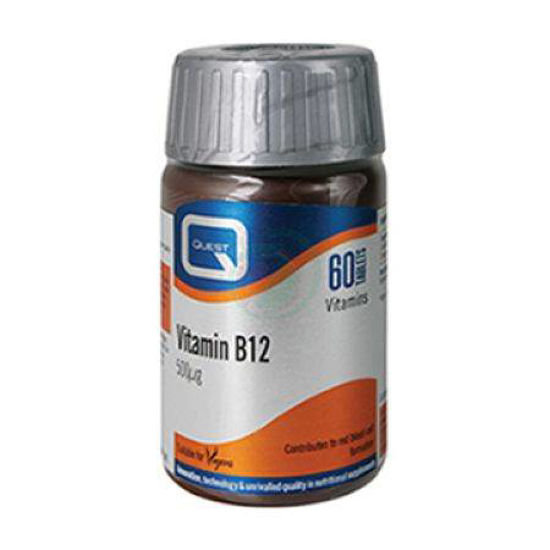 Quest Vitamin B12 500 mcg, 60 tablet