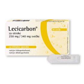 Slika Lecicarbon 250 mg/ 340 mg svečke za otroke, 10 svečk