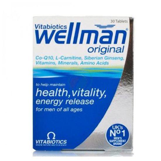 WellMan Original prehransko dopolnilo za moške, 30 tablet