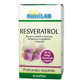 Slika Nutrilab Resveratrol 150 mg, 60 kapsul