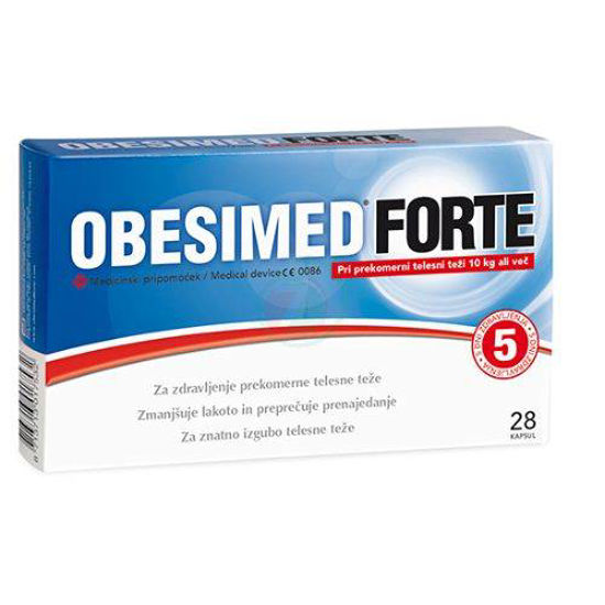 Obesimed Forte pri prekomerni telesni teži, 28 kapsul