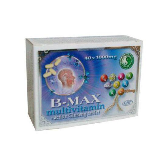 B-Max Multivitamin 1000 mg + aktivni ginseng, 40 tablet
