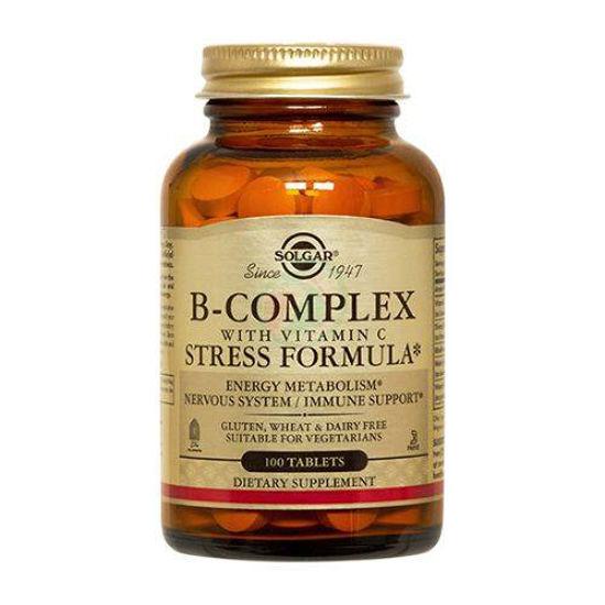 Solgar B kompleks z vitaminom C, 100 tablet