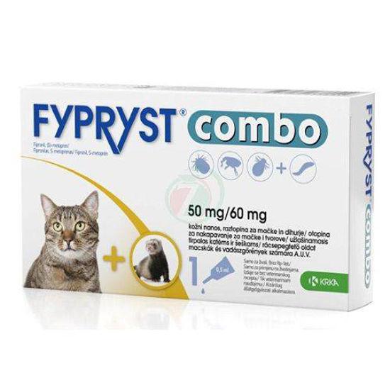 Fypryst Combo 50 mg/60 mg kožne kapljice za mačke in dihurje