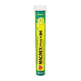 Slika Magnex magnezij in vitamin B6 šumeče tablete z okusom limone, 20 tablet