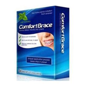 Slika ComfortBrace zaščitni trakovi za zobni aparat, 24 trakov