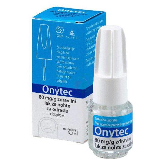 Onytec 80 mg/g zdravilni lak za nohte, 3.3 mL