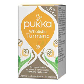 Slika Pukka Turmeric ekološka kurkuma, 30 rastlinskih kapsul