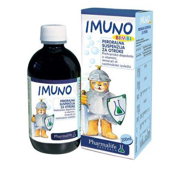Imuno Fitobimbi peroralna suspenzijo za otroke, 200 mL