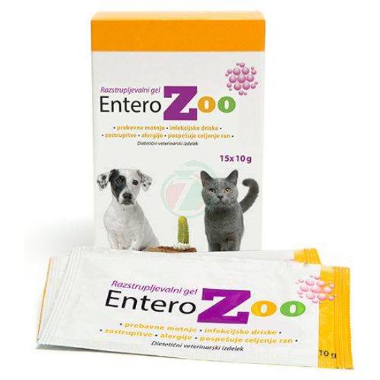 EnteroZOO veterinarski gel za želodec v vrečkah, 3x150 g