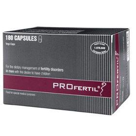 Slika PROfertil za dietetsko uravnavanje motenj plodnosti pri moških, 180 kapsul
