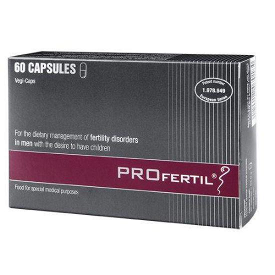 PROfertil za dietetsko uravnavanje motenj plodnosti pri moških, 60 kapsul