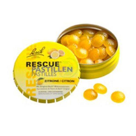 Bach Rescue pastile z okusom limone, 50 g