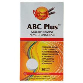 Slika Natural Wealth ABC Plus z okusom pomaranče, 20 šumečih tablet