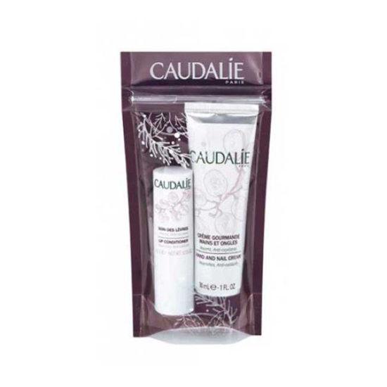 Caudalie set: krema za roke in stick za ustnice, 30 mL + 4,5 g