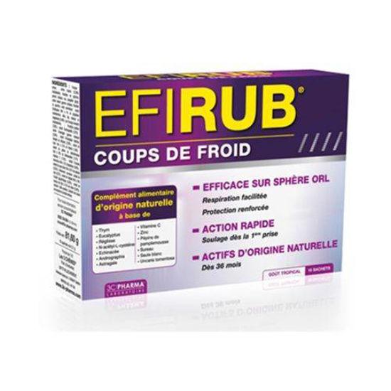 Efirub dopolnilo pri gripi in prehladu, 16 praškov