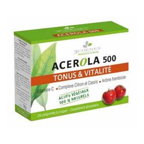 Slika Acerola 500, 24 žvečljivih tablet