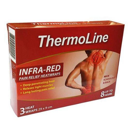 ThermoLine terapevtski infra-rdeči toplotni obliži 29 x 9 cm, 3 obliži